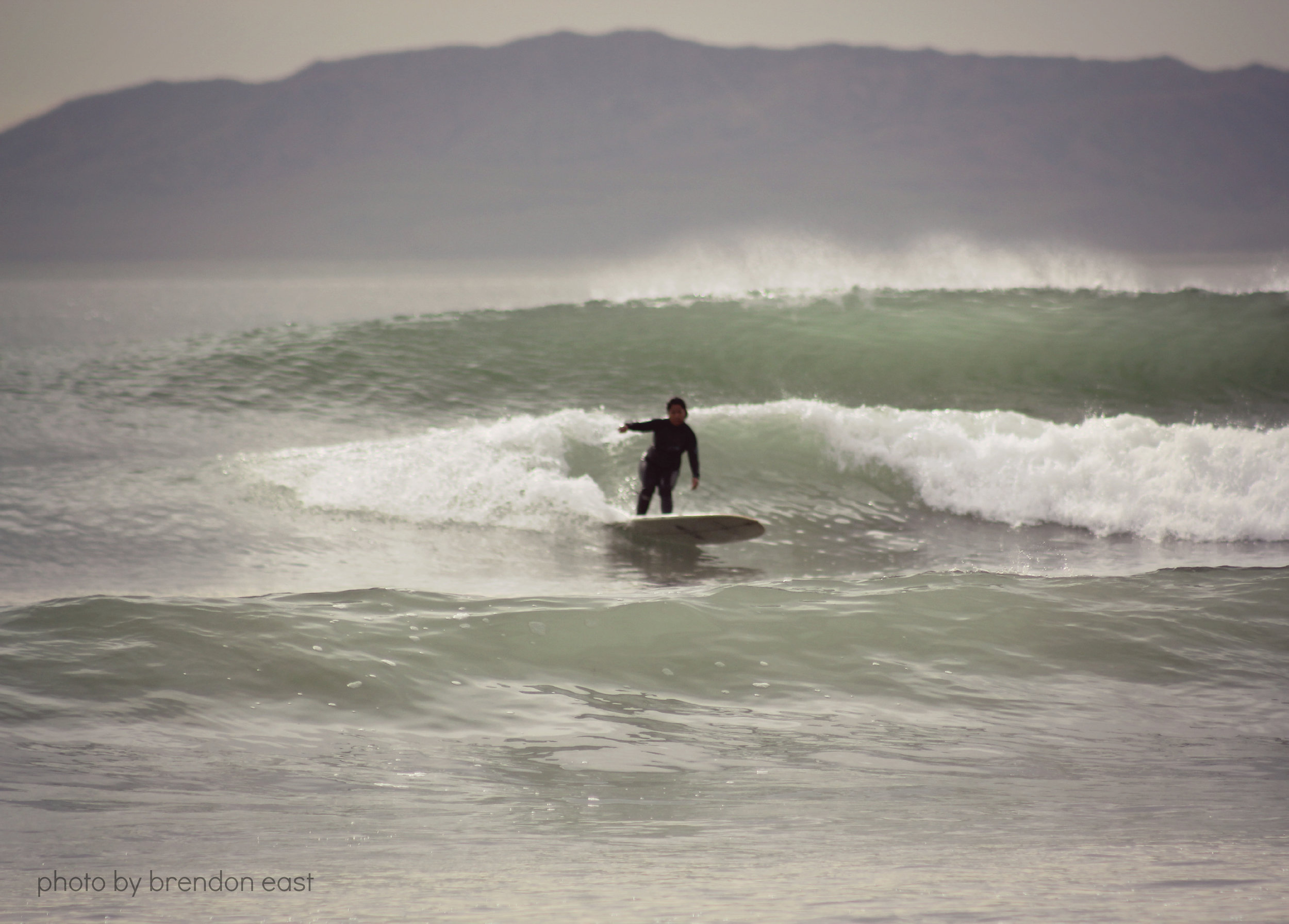 epic glassy day. desiree east. ventura, california. photo by brendon east