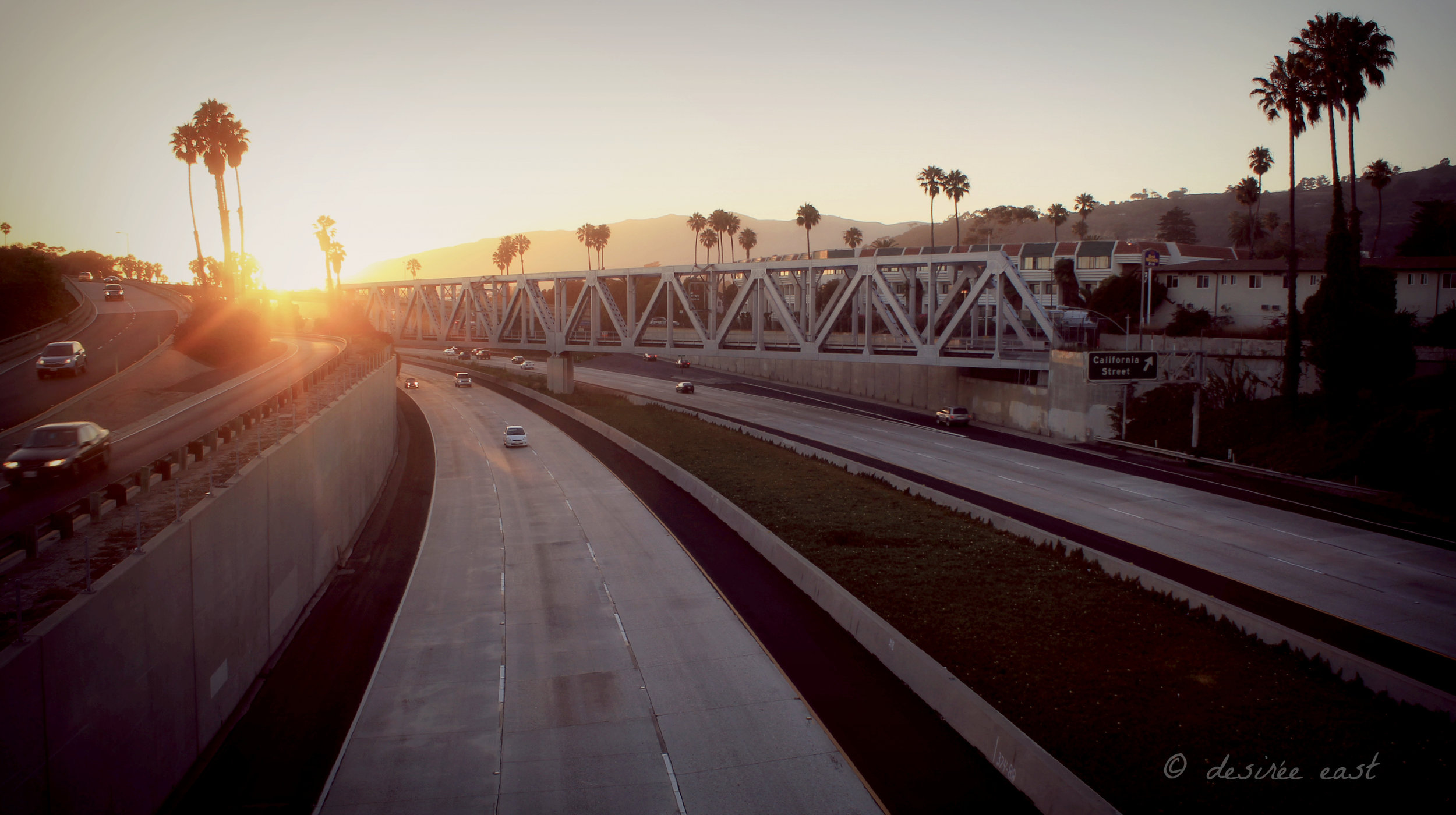 california street bridge train tracks. ventura, california. photo by desiree east