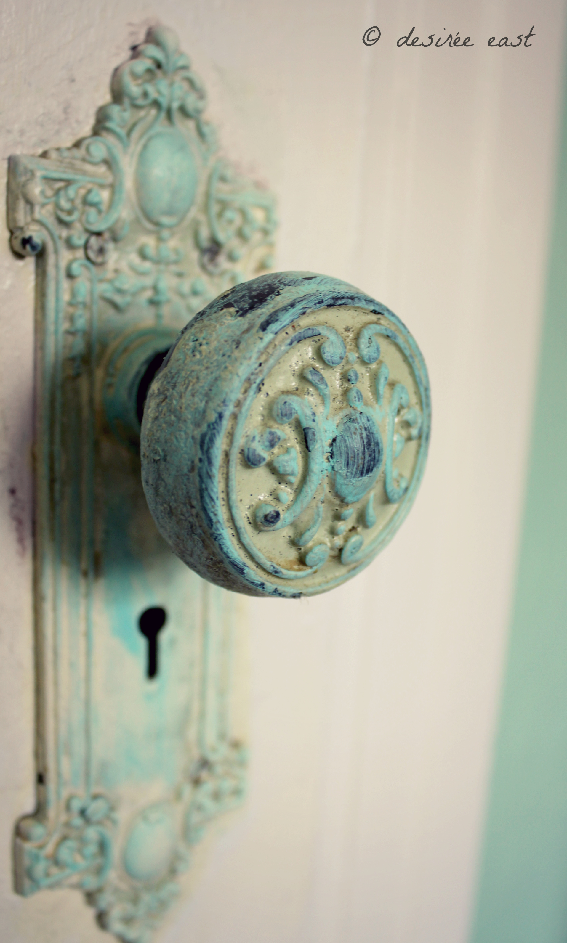 i heart this antique door knob. ventura, california. photo by desiree east