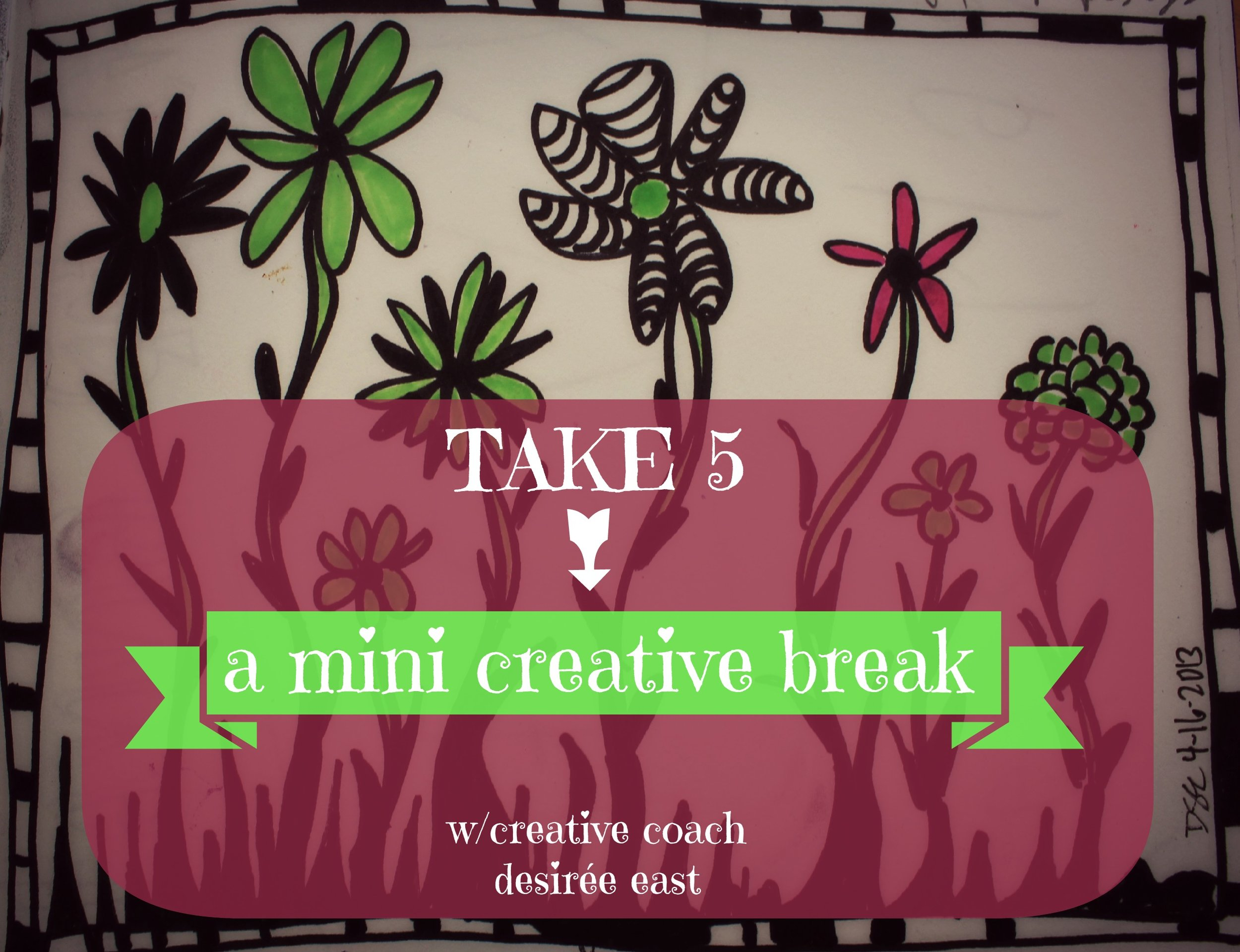 take five doodling_artist desiree east_creatively fit coach