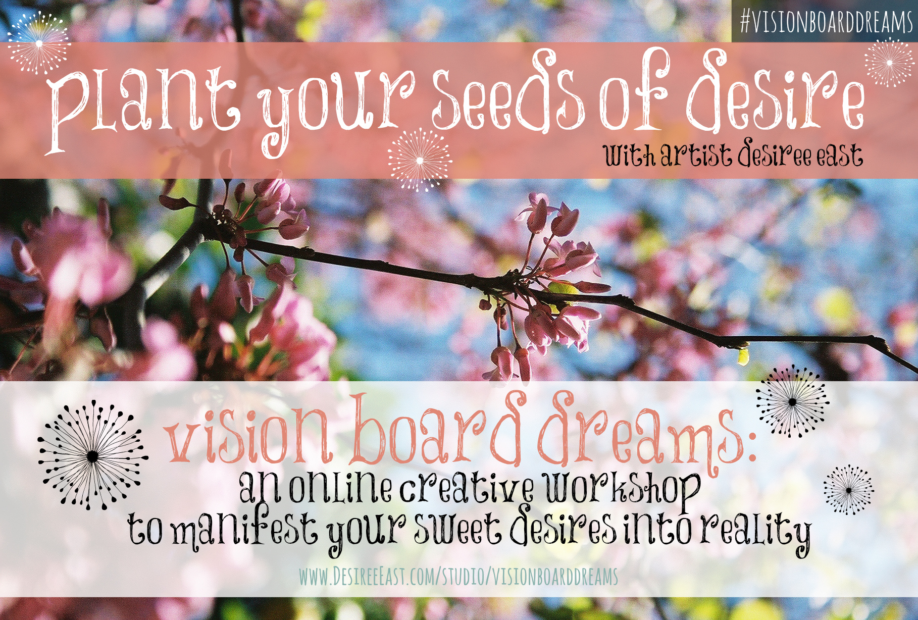 how to create a vision board with artist desiree east