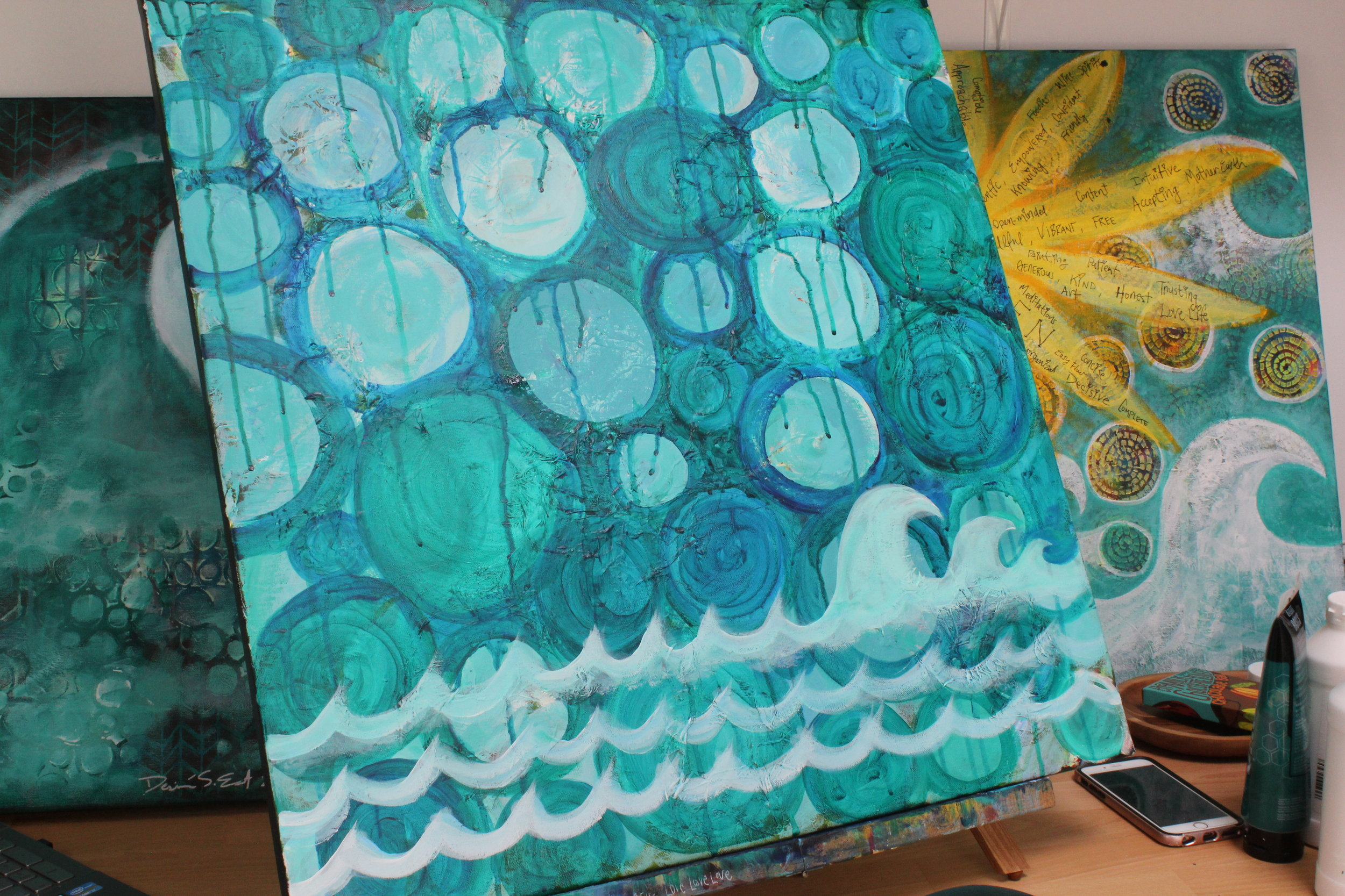 water element painting by certified creatively fit coach desiree east