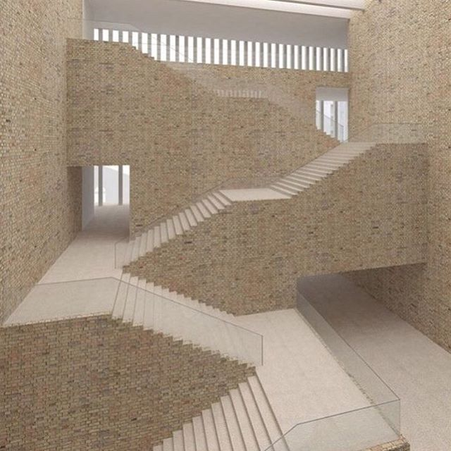 David Chipperfield. #stairs #architect #archidaily #archilovers #architecturelovers #staircase #brick #venice #art #design #designer #love #aesthetic #structure #labyrinth #illusion #davidchipperfield via @maker_interiors