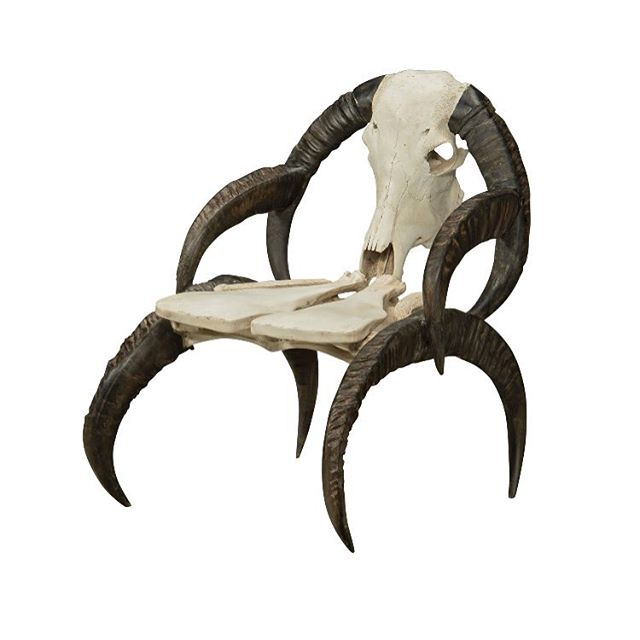 Just picked up this bad boy. En route to la casa from its Danish resting grounds. #buffalo #african #bones #chair #style #swagger #antique #brutal #nyc #loft #interiordesign