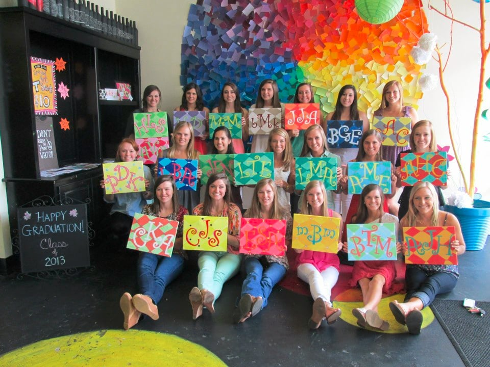 Spirited art wine painting parties girls night out for Kids paint party