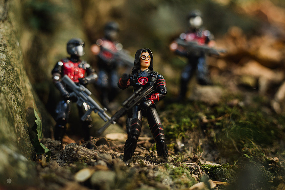 G.I. Joe Toy Photography Chameleon Baroness Cobra Vipers Red Laser Action Figures Hasbro