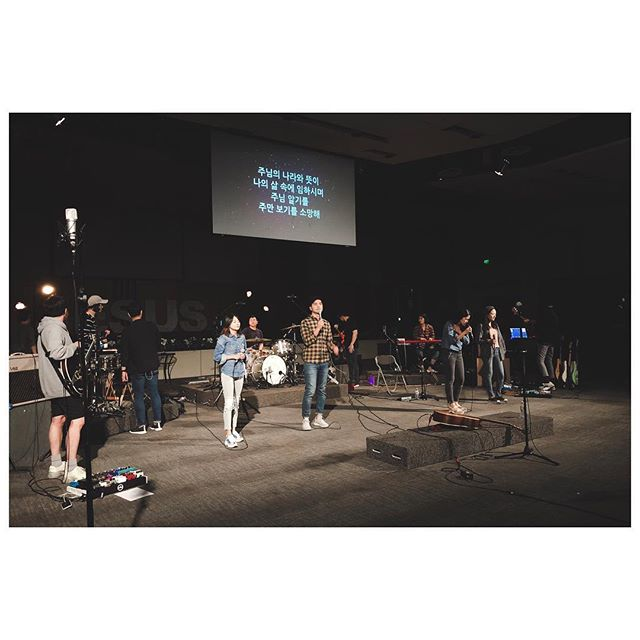 Shooting for a music video from live concert. 9 cameras in action. #worshipconcert #onnuriirvine #musicvideo