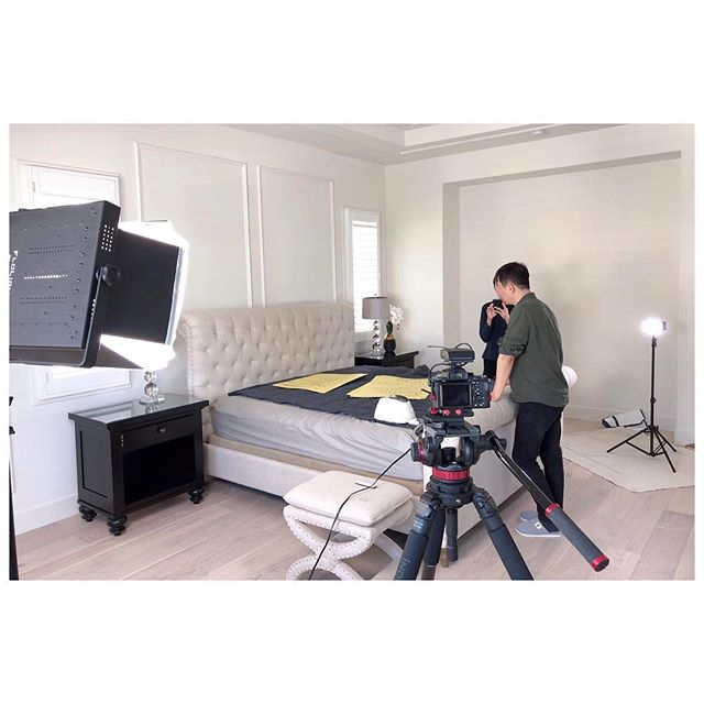 Shooting a Chinese commercial in probably the largest (and the most expensive) house I've ever been in. The master bathroom was larger than two of our rooms combined. #shooting #videographer #sonya7sii