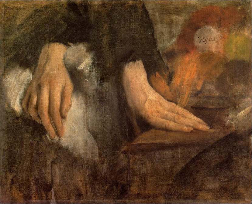 Study of Hands, Edgar Degas, 1860