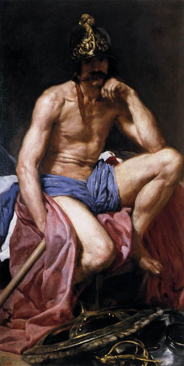 Velazquez,  Mars Resting , 1640