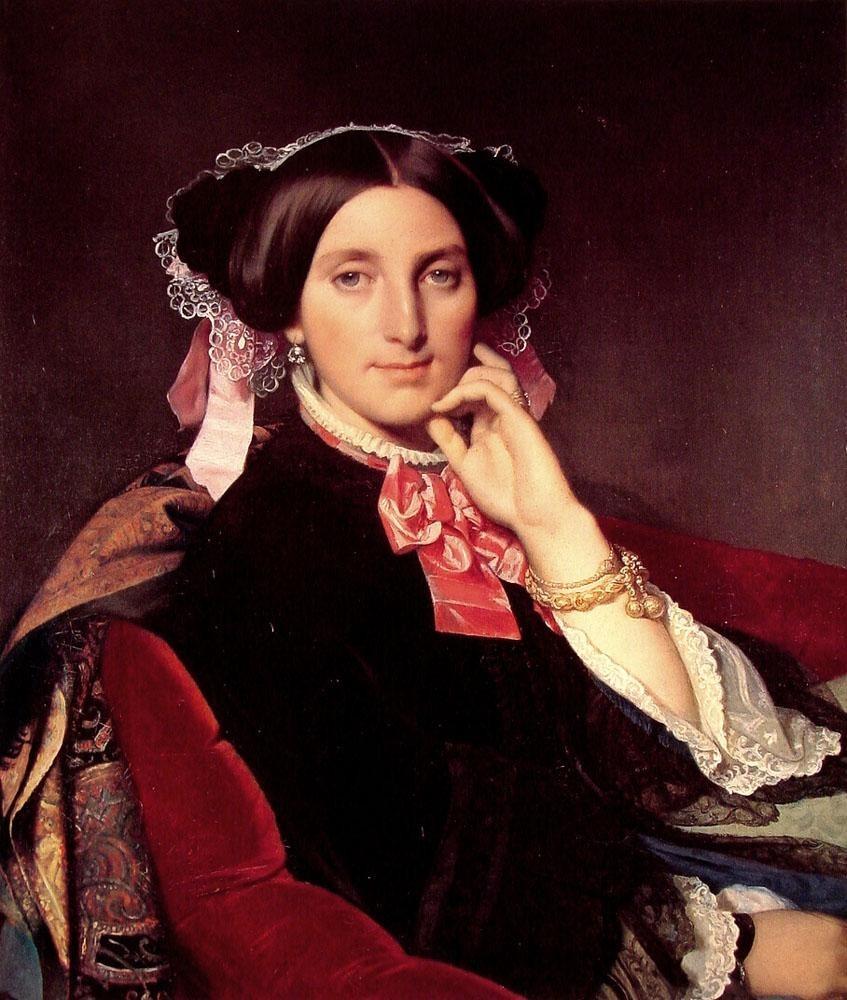 """Ingres, """"Madame Gonse,"""" 1852"""