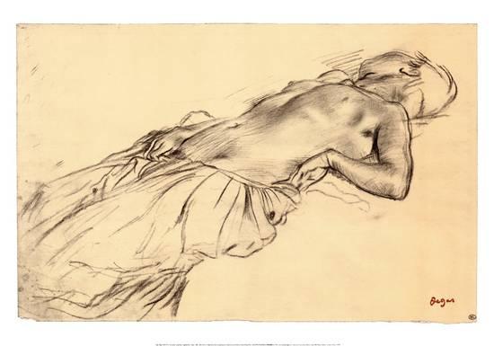 Degas,  Lying Nude