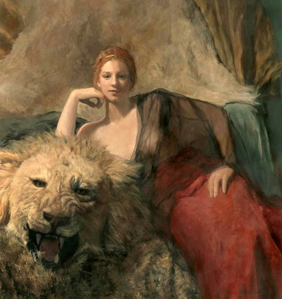 Image Credit: Woman With A Lion – Ode To My Mother, Grace by Linda Lee Nelson (1963)