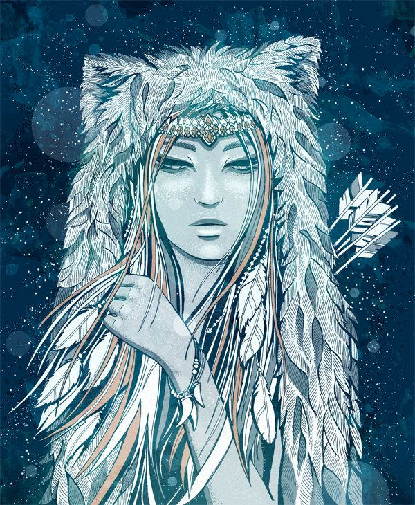 Image Credit:  Goddesses of the North_Skadi by ansfhd @DeviantArt