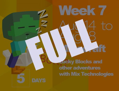 WEEK 7: MINECRAFT & MIXED TECHAug. 14 - Aug. 18 (5 days) | $325 + HST-- THIS IS NOW FULL -- - Kids will explore recreational maps and mini-games while learning to use drag and drop coding software to create their own Minecraft mods before play-testing them on a server. Our days will also include other arts and science activities such as game maker, coding, and outdoor time. It's a week for all things Minecraft!