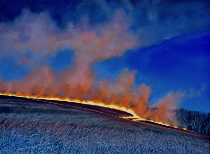 """Burn at Diamond Creek"" 30x40 Oil on Canvas 2017"