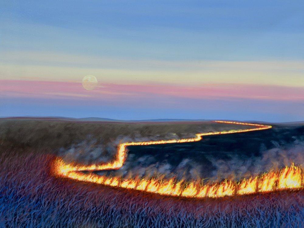 """Burn at Teeter Rock"" 30x40 Oil on Canvas"