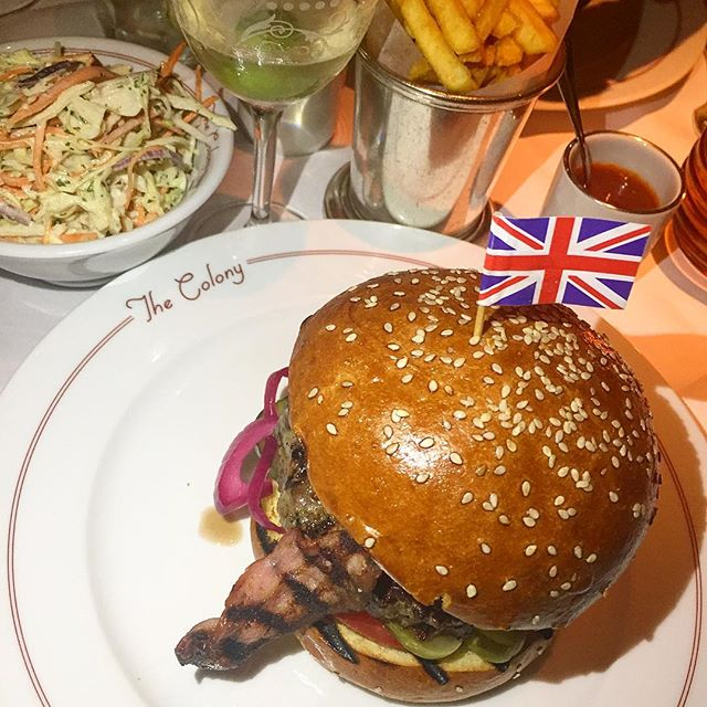 Burger Brexit 🇬🇧🍔 #American #Food section of the menu 🙊@thecolonygrillroom #burgerlife