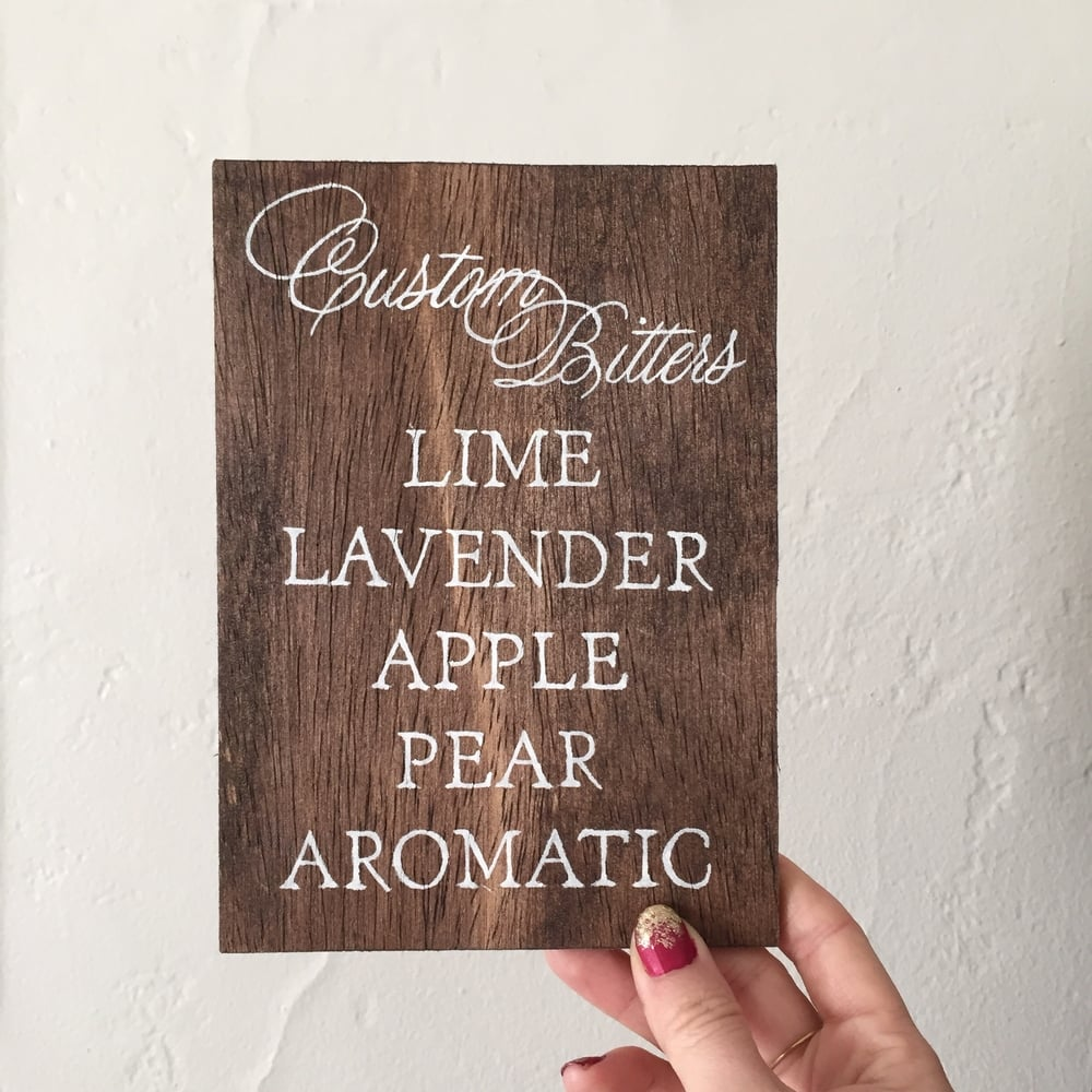 Custom Signage by Bowerbird Atelier