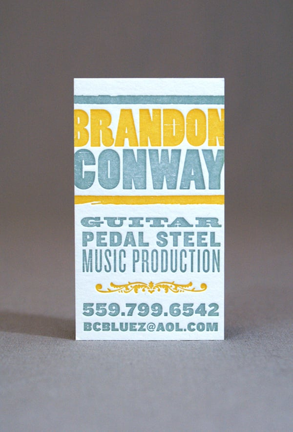 Business Card Design + Letterpress by Stephanie Laursen