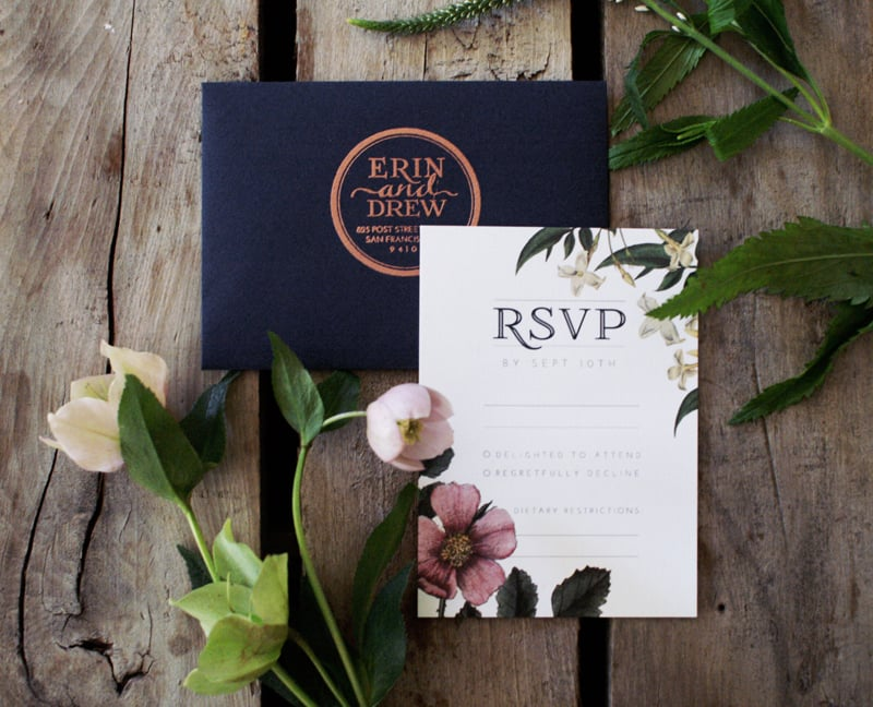 RSVP Card by Bowerbird Atelier