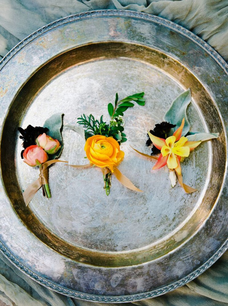 Boutonniere's by Bowerbird Atelier | Photo by Jon Upchurch | Sarah Winward Workshop