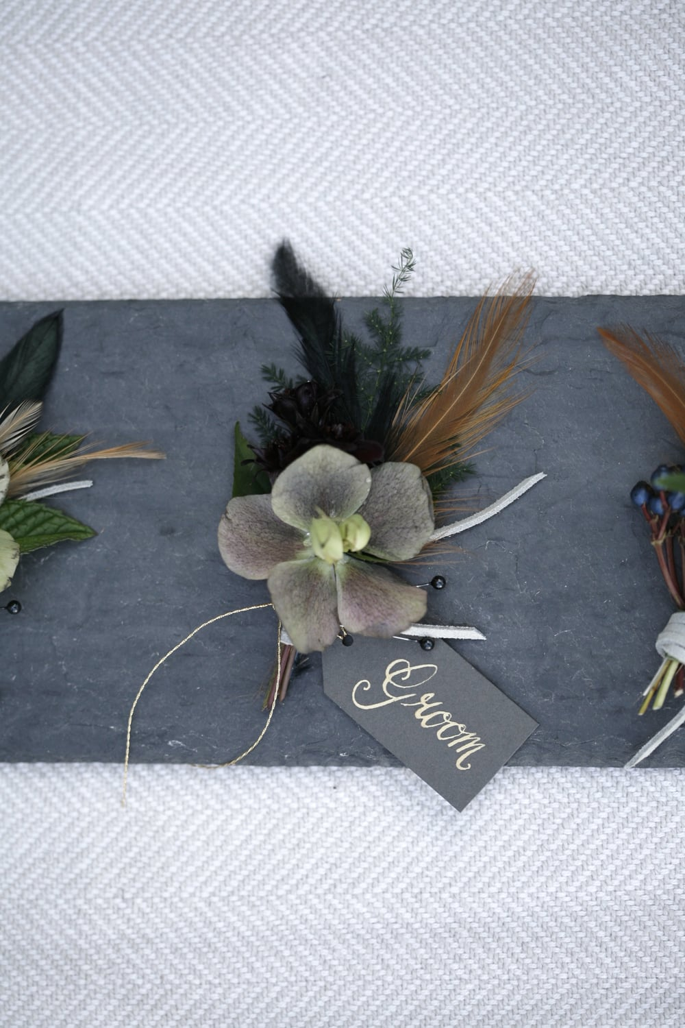 Boutonniere by Bowerbird Atelier
