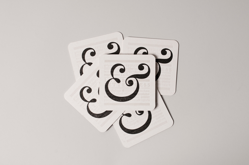 Ampersand Coasters Designed + Letterpressed by Stephanie Laursen