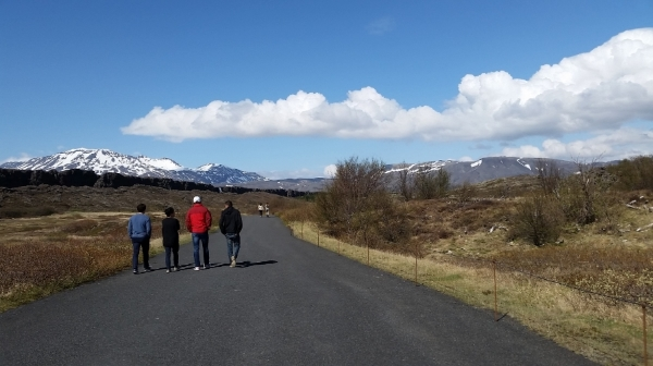 A few Dins at the historic site of Þingvellir, at the Eurasian-North American continental divide.