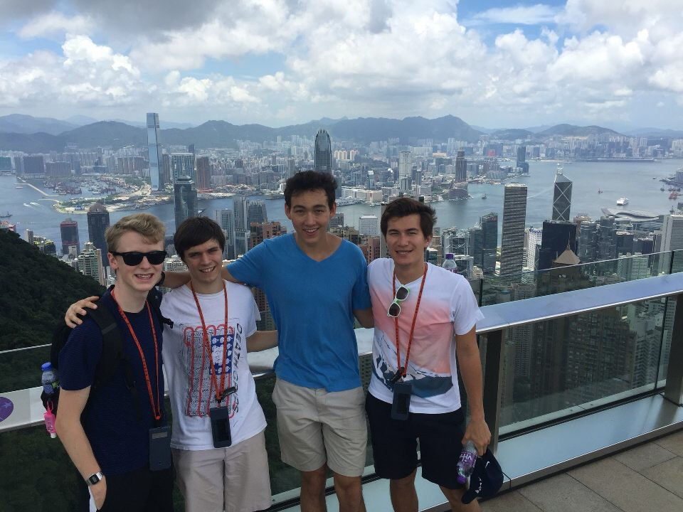 At the top of Victoria Peak