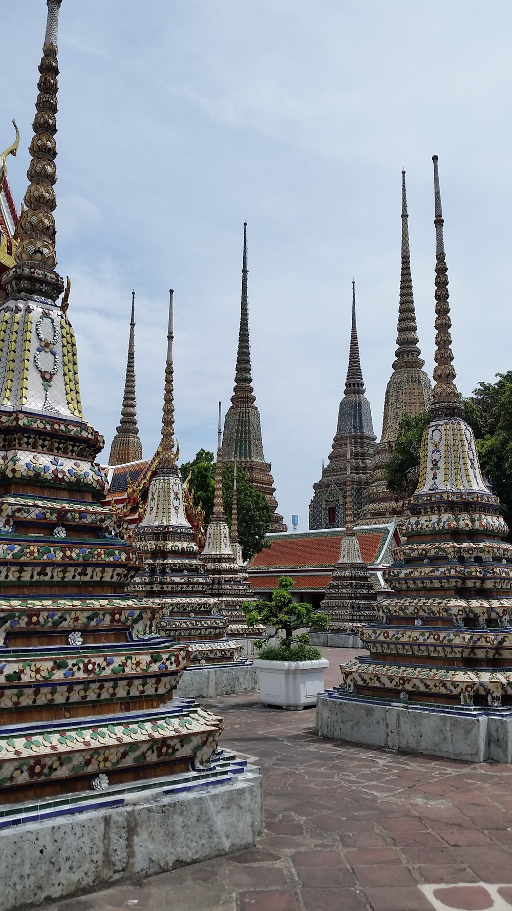 Beautiful architecture at the temple of Wat Pho near the Royal Palace in Bangkok