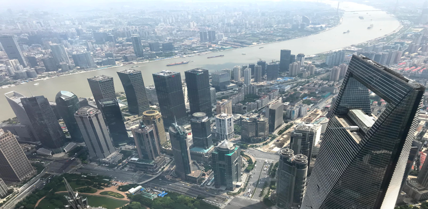 A photo of the Shanghai Skyline!  Photo by Sydney Mukasa #234