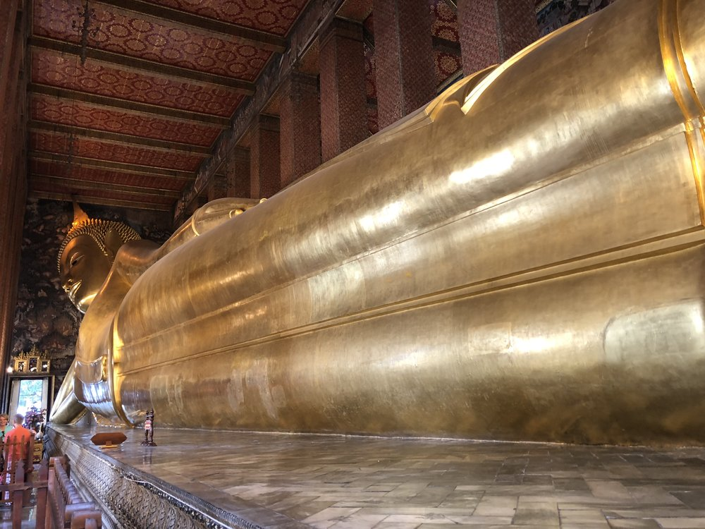 A casual photo of the Reclining Buddha at  Wat Phra .  Photo by Brian Rolincik #240