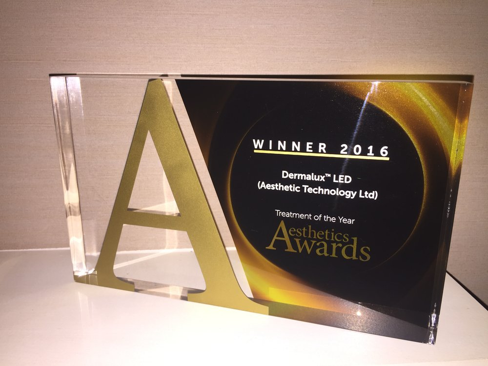 Dermalux beat out other commendable finalists, including ULTRAcel, 3D-Lipo, and Dermapen to claim the incredible title for the fourth consecutive year.