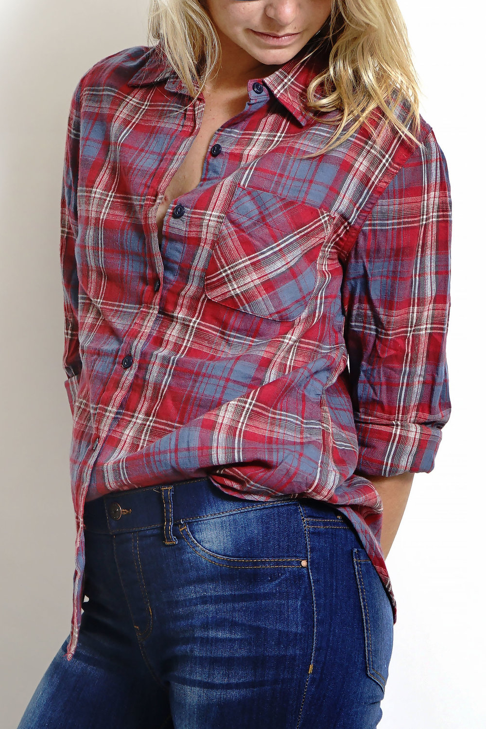 Shirt-V10009-P174F-Red:Navy-Half side2.jpg
