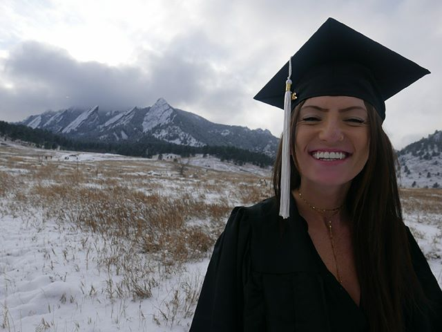 Shout out to our #boulder manager, @messeteitiac for graduating @cuboulder !! We are so incredibly proud of you and wouldn't know what to do without you! We love you so much!! XOXO