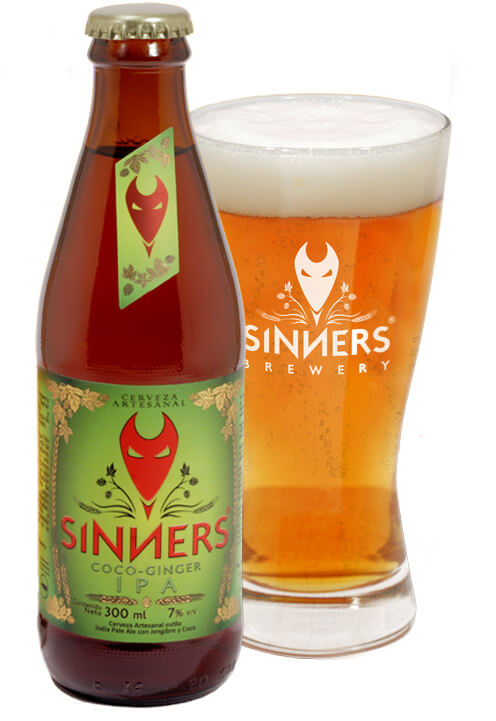 Cerveza artesanal Coco Ginger IPA - Sinners Brewery