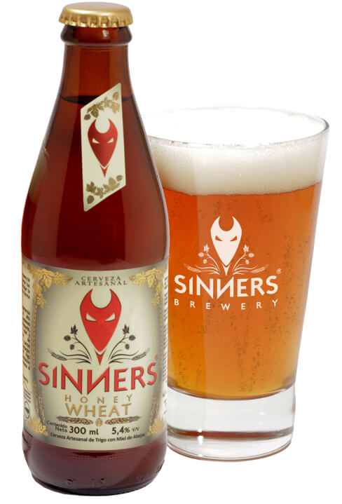 Cerveza artesanal Honey Wheat - Sinners Brewery