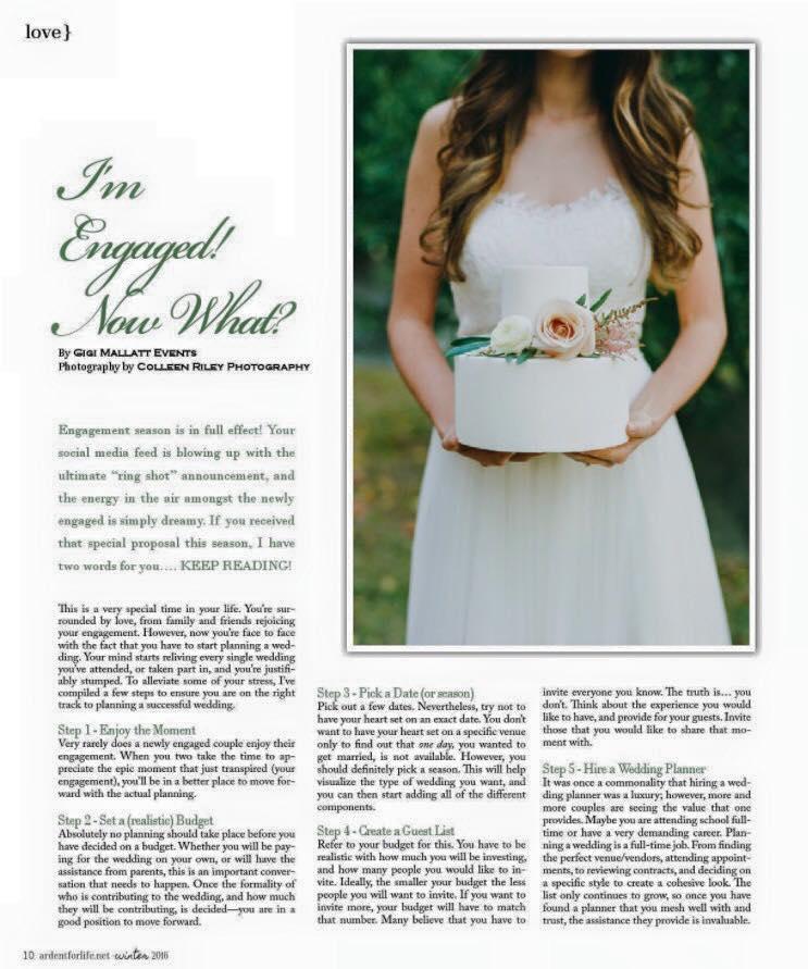 Wedding Planner in California - Ardent Magazine Feature