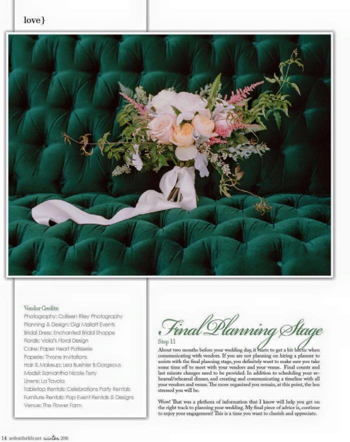Wedding Planner in San Francisco, CA - Feature in Ardent Magazine