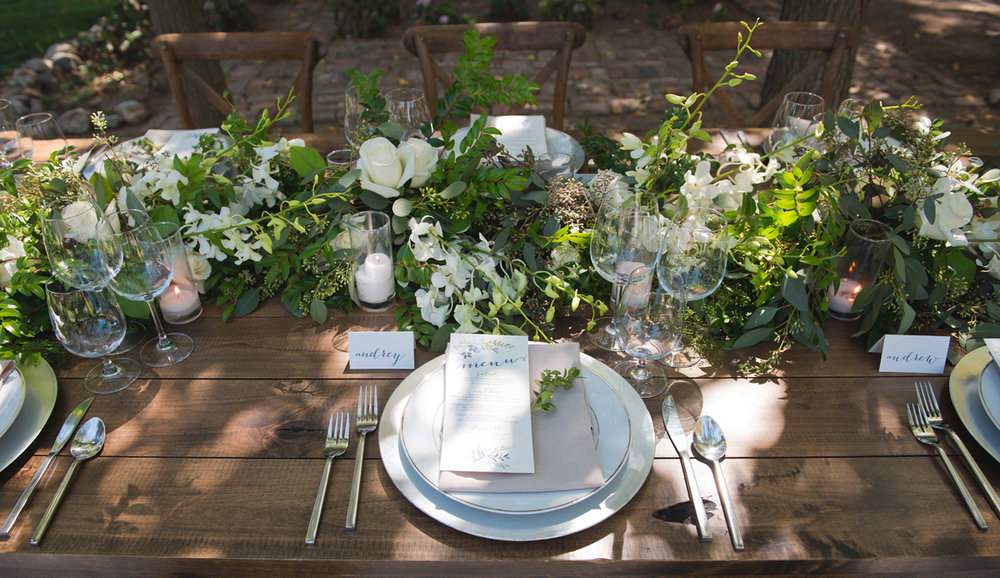 Greenery Table Centerpieces