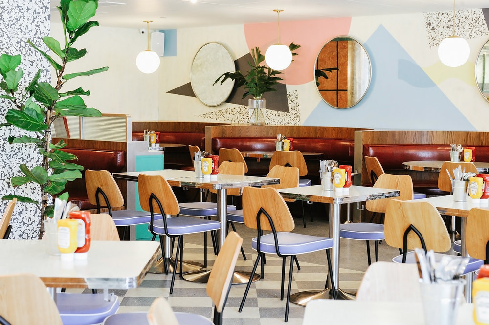 Quaint American Style Diner - OverEasy