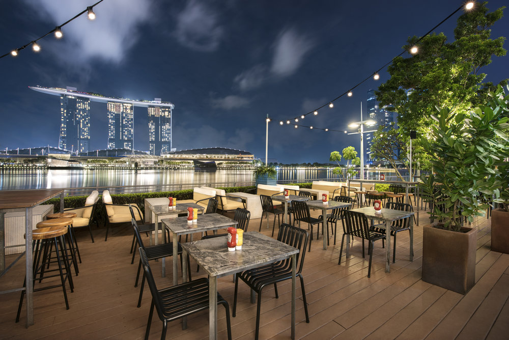 Singapore Night Sky View Fullerton - OverEasy