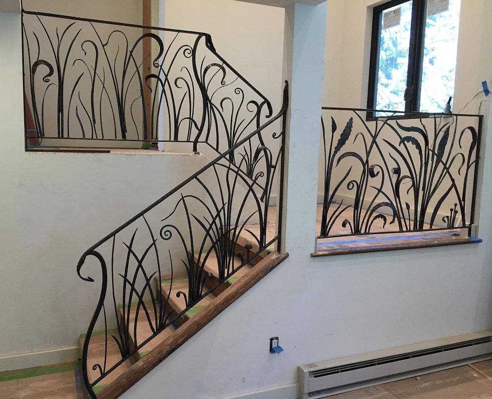 Tall Grasses Stairway Railing