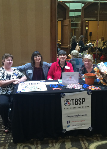 West TN RTI2 Behavior team members Cara Richardson, Hether Pflasterer, Carolyn Stark, and Patty Outten manned the RTI2-Behavior vendor table at the West TN Special Education Conference in Memphis on September 22-23