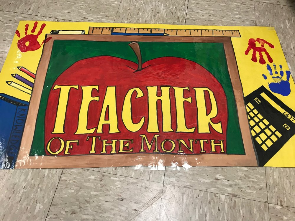 Teacher of the Month Banner