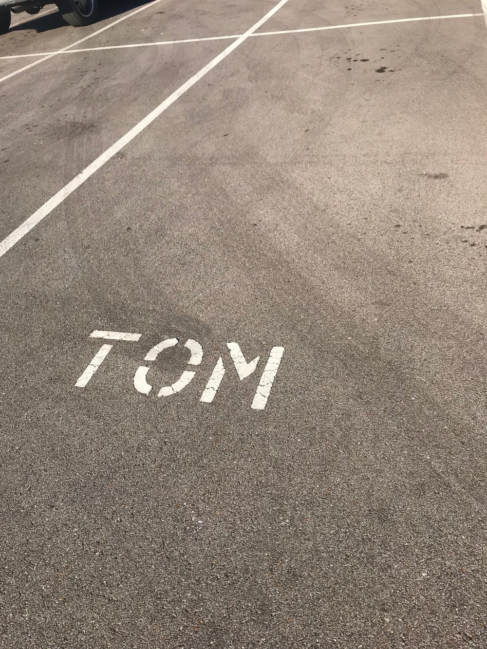 Teacher of the Month Parking Spot