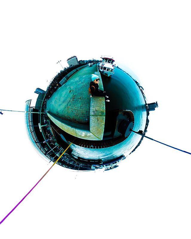 Werf. . . . . . #amsterdam #ricohthetas #360 #ferryrides #NDSM #tinyplanet