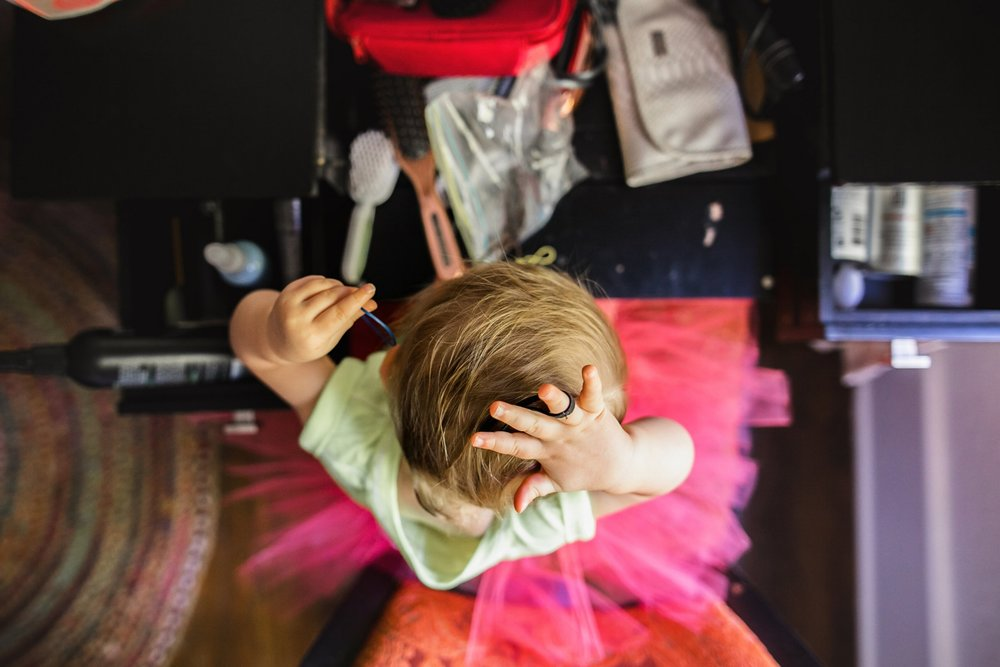 Hair ties and tutus.