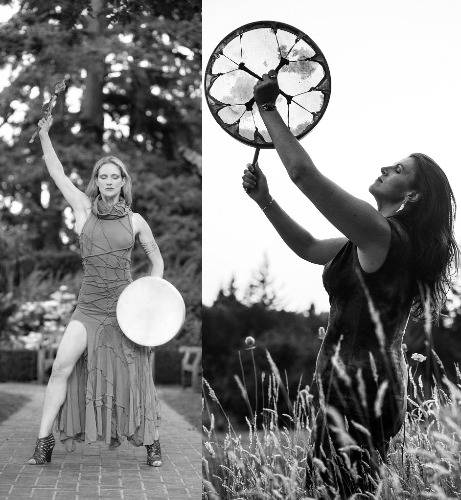 Shaman Michelle Hawk and Katherine Bird Animal Dance Shamanic Journey Workshop